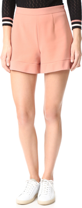 RED Valentino Ruffle Shorts $295 thestylecure.com