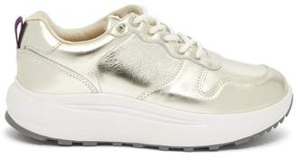 Eytys Jet Metallic Leather Trainers - Womens - Gold