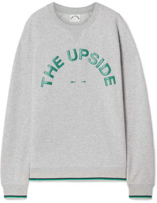 The Upside Sid Printed Cotton-jersey Sweatshirt - Gray