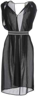 Nude Knee-length dress