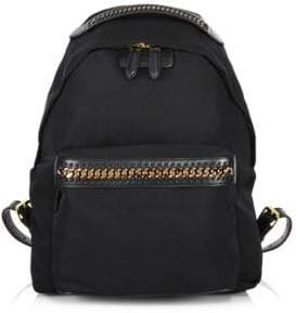 Stella McCartney Women's Medium Nylon Falabella Backpack - Black