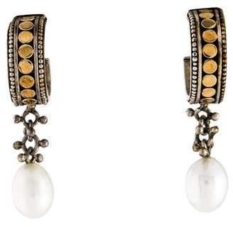 John Hardy Pearl Drop Earrings