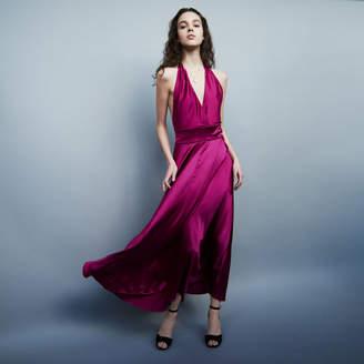 Maje Long sleeveless silk dress