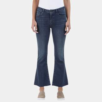 3x1 Midway Extreme Cropped Bell Jean in Dot