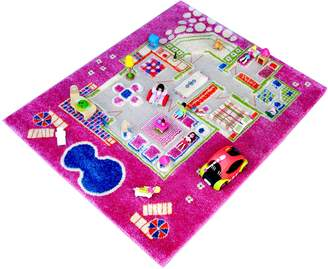 "Camilla And Marc Ivi IVI NB/121md015ye80103-it Rug Hypoallergenic Game in 3D for Children with""A Game Girls 'Home' Design 80 x 100 cm Green"