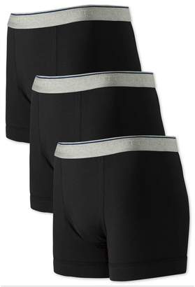 Charles Tyrwhitt Black Jersey 3 Pack Trunks Size XS