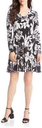 Karen Kane Floral Print Fit & Flare Dress