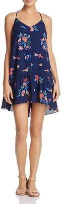 AQUA Tassel-Back Floral Flounce Dress - 100% Exclusive $88 thestylecure.com