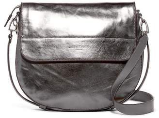 Liebeskind Berlin Postina Leather Metallic Saddle Crossbody