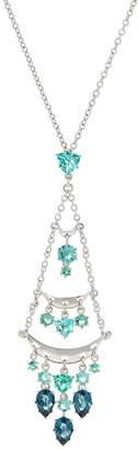 Pina Colada Chandelier Crystal Pendant Necklace