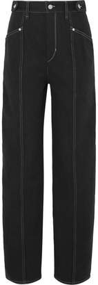 Isabel Marant Genie Denim Straight-leg Pants - Black