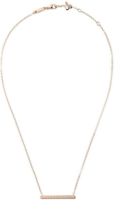 Chopard 18kt rose gold Ice Cube Pure diamond necklace