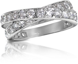 Forzieri 1.84 ct Diamond Crossover 18K Gold Ring