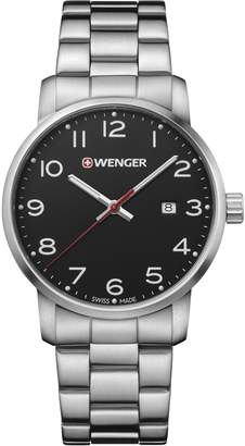Wenger Men's 'Sport' Swiss Quartz Stainless Steel Casual Watch, Color:Silver-Toned (Model: 01.1641.102)