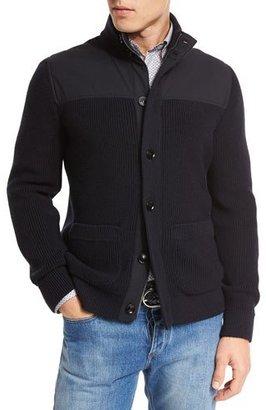 Ermenegildo Zegna High-Performance Merino Wool Zip Jacket, Navy $1,995 thestylecure.com
