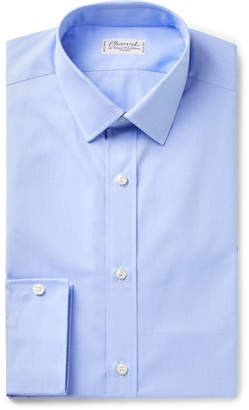 Charvet Blue Puppytooth Cotton Shirt