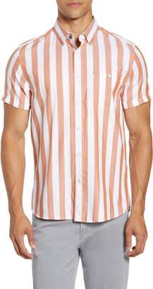 Ted Baker Marki Slim Fit Stripe Short Sleeve Shirt