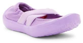 LUV Footwear Crisscross Metallic Flat (Toddler Girl)