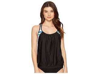 Athena Next by OM Double Up 2 Tankini Top Women's Swimwear