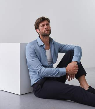 Reiss Jackson Linen Blend Slim Fit Shirt