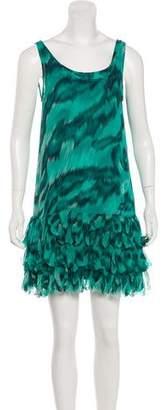 Diane von Furstenberg Ruffle-Accented Silk Dress