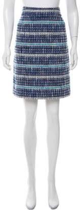 Tory Burch Tweed Knee-Length Pencil Skirt