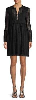 Maje Long-Sleeve Ruffled Dress