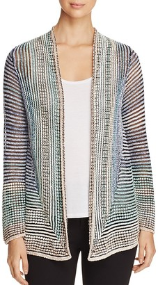 NIC and ZOE Stripped Away Sheer Stripe Cardigan $158 thestylecure.com