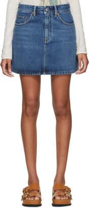 Acne Studios Blue Bla Konst Denim Caitlyn Miniskirt