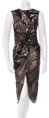 Brandon Sun Brocade Sleeveless Dress
