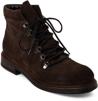 Gabriella Brown Burnished Suede Combat Boots