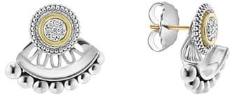 Lagos Caviar Diamond Stud Earrings