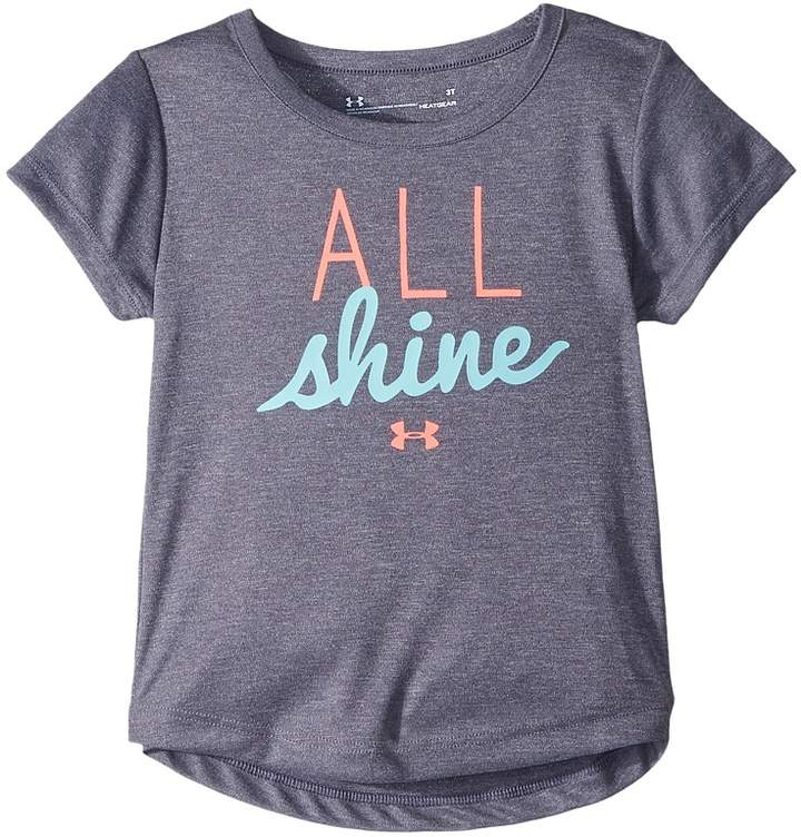 Under Armour Kids All Shine Short Sleeve Tee Girl's T Shirt