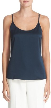 Women's Nordstrom Signature And Caroline Issa Hammered Silk Camisole $199 thestylecure.com