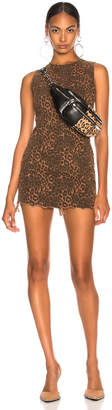 Alexander Wang Zip Dress in Tan Leopard Print | FWRD