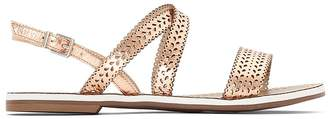 Dune London Lilo Flat Leather Sandals