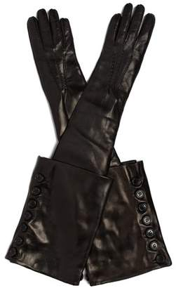 Ann Demeulemeester Joris Long Leather Gloves - Womens - Black