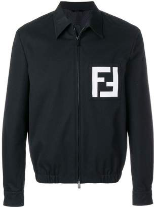 Fendi logo print shirt jacket