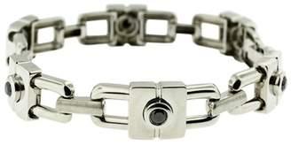 Black Diamond 14K White Gold Chain Link Unisex Bracelet