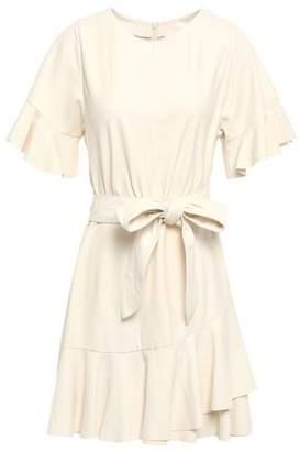 Cinq à Sept Aimee Tie-front Leather Mini Dress