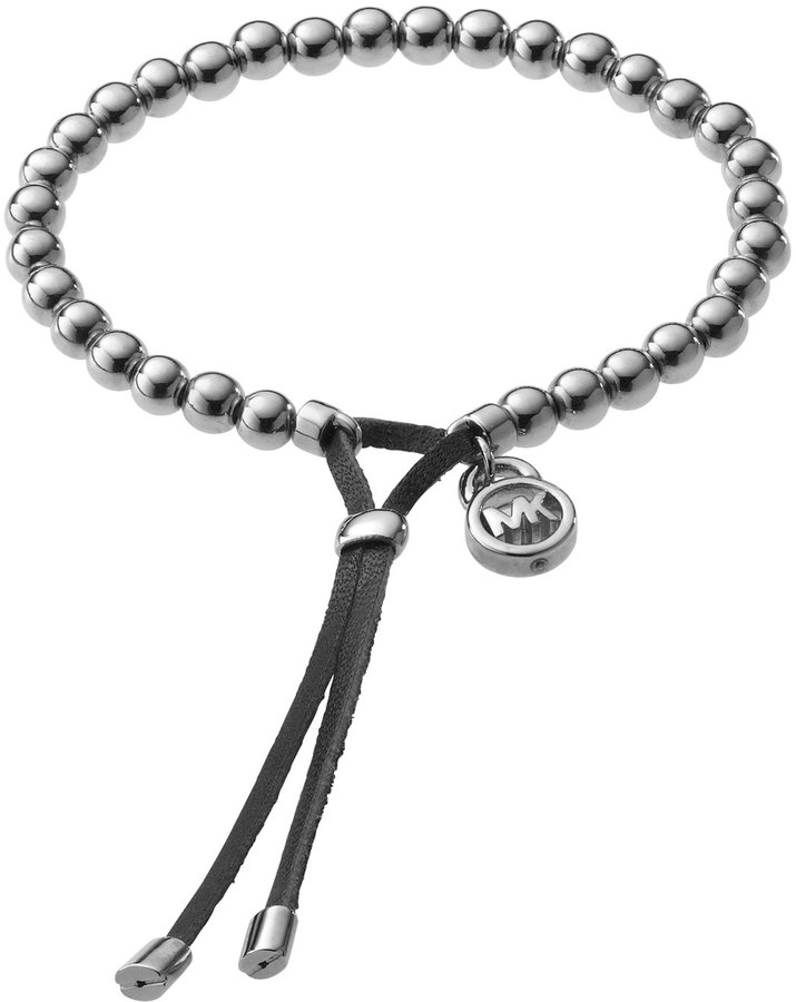Michael Kors Bead Stretch Bracelet, Silver Color