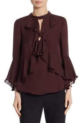 Thea Silk Bell Sleeve Blouse