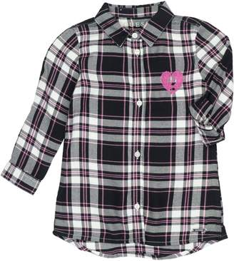 GUESS Little Girl's Embroidered Plaid Shirtdress