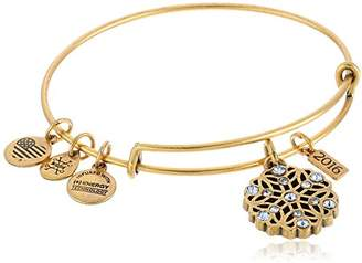 Alex and Ani 2016 Snowflake Expandable Gold Charm Bangle