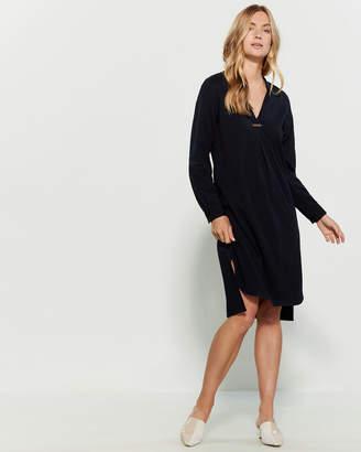 Peserico V-Neck Vented Midi Dress