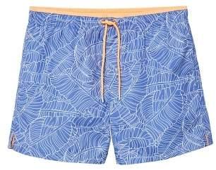 Mango man MANGO MAN Leaf-print swimsuit