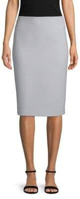 Lafayette 148 New York Nouveau Crepe Wool Pencil Skirt