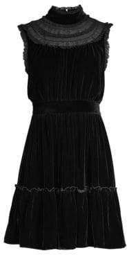 Kate Spade Wild Ones Velvet Lace Trim Dress