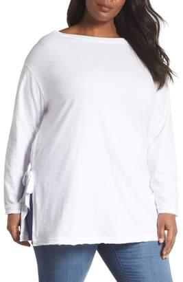 Caslon Side Tie Cotton Tunic Top