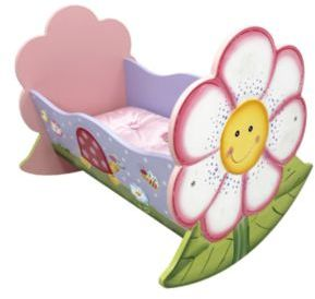Teamson Magic Garden Rocking Doll Bed $69 thestylecure.com